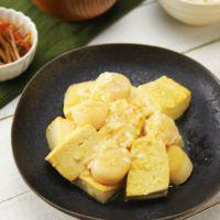 ホタテと豆腐のうま塩炒め
