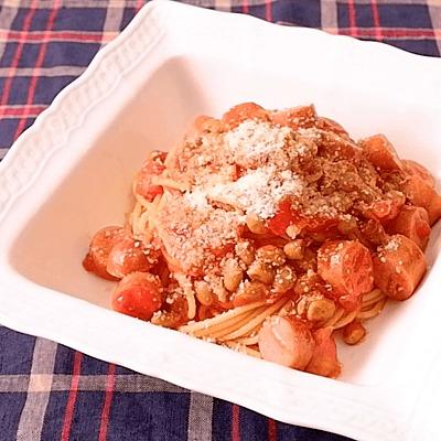 10分で簡単 納豆トマトパスタ