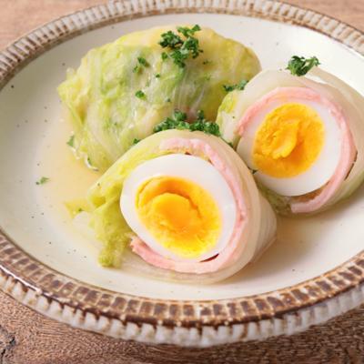 ゆで卵のロールレタス