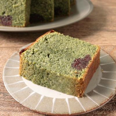 よもぎと餡の和風パウンドケーキ