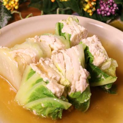 簡単!白菜と鶏ミンチの重ね蒸し