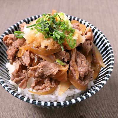 さっぱり食べる おろしポン酢牛丼