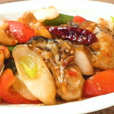 牡蠣のピリ辛唐辛子炒め