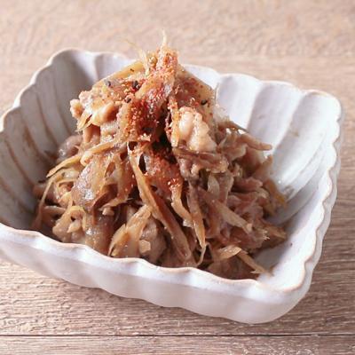 豚こま肉とごぼうの炒め煮