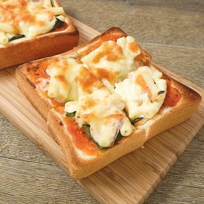 マカロニサラダリメイク ピザ風トースト