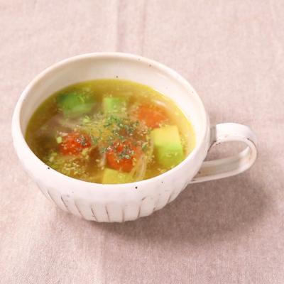 アボカドとミニトマトのスープ