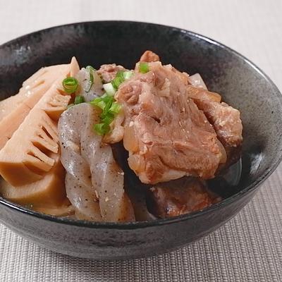 圧力鍋で簡単 豚軟骨の味噌煮込み