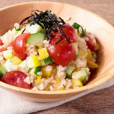 彩り野菜の玄米サラダ