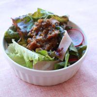 炒め玉ねぎのサニーレタスサラダ