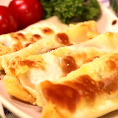 餃子の皮で大葉チーズ巻き