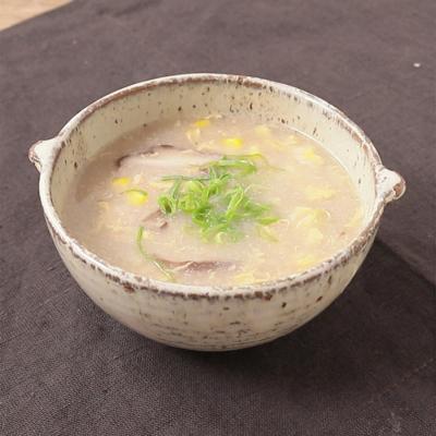 レンコンのすり流し汁で 中華風かきたまスープ