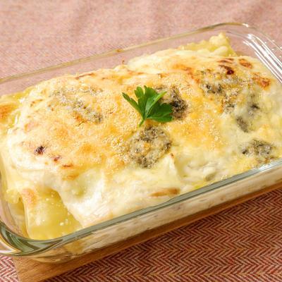 ブルーチーズ香る ホタテのクリーミーラザニア