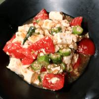 食べるドレッシング!豆腐とトマトの和風サラダ