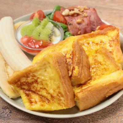 朝ごはんに フレンチトーストプレート