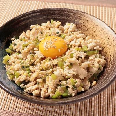野沢菜と鶏そぼろのさっぱり丼