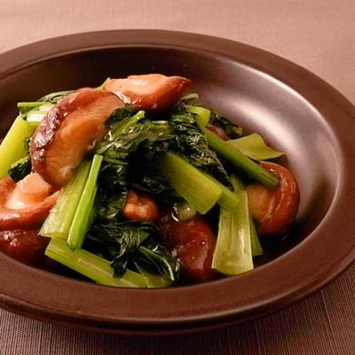 小松菜と椎茸のうま塩炒め
