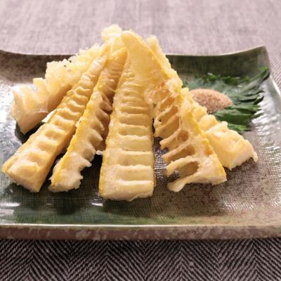 カレー塩で タケノコの天ぷら