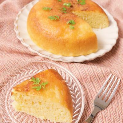 炊飯器で簡単に HMで作るりんごのコンポートケーキ