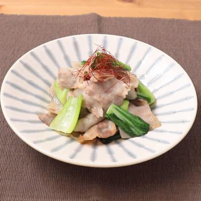 豚肉とチンゲン菜の中華炒め