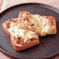 こんがりチーズの納豆ツナトースト