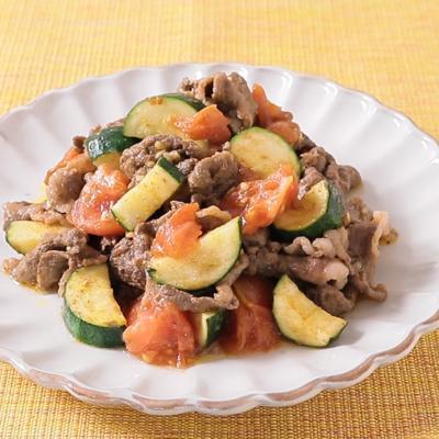 カレー風味 牛肉のトマト炒め
