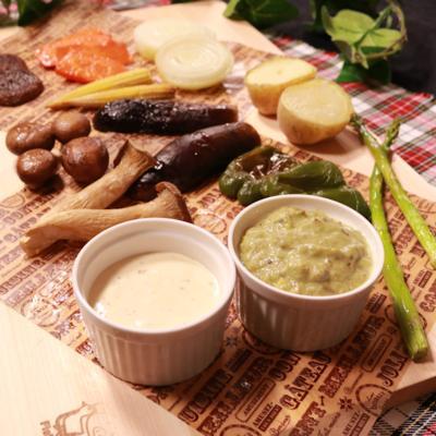 色々お野菜ときのこのグリルサラダ 〜2種類のソースで〜