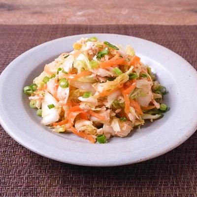 白菜とにんじんのごま酢ツナ和え