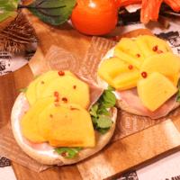 柿のイングリッシュマフィントースト