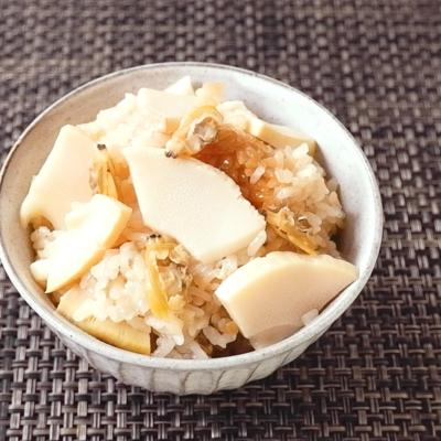 バター香る タケノコとアサリのおこわ