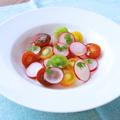 簡単 ラディッシュとミニトマトのサラダ
