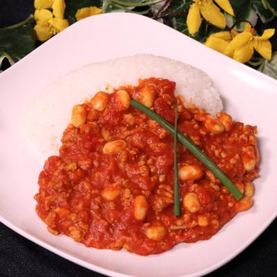 フライパンでトマトと大豆のキーマカレー