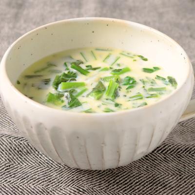 春菊とカブのミルクスープ