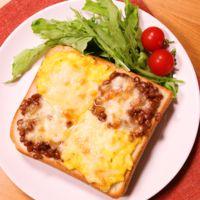 納豆と卵サラダのミックストースト