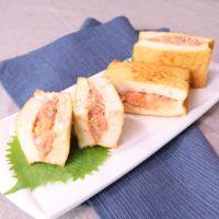 厚揚げ豆腐で明太じゃこチーズの挟み焼き