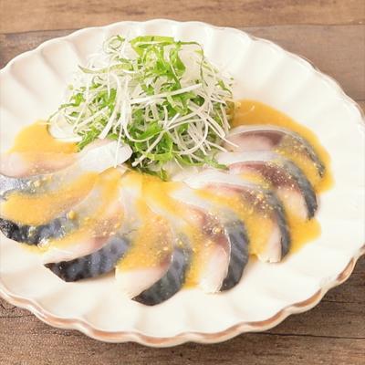 しめ鯖のからし酢味噌ドレッシング