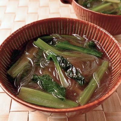 あっという間にできる 小松菜と春雨のスープ