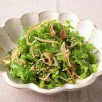 わさび菜の香りサラダ