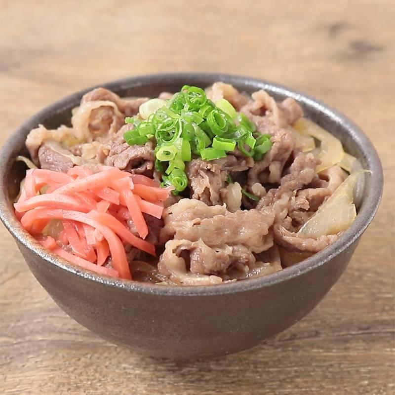 めんつゆで味付け簡単 牛丼 作り方・レシピ
