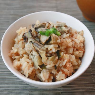 牡蠣とズッキーニのガリバタごはん