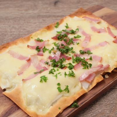 クリスピーワンタン餅ピザ