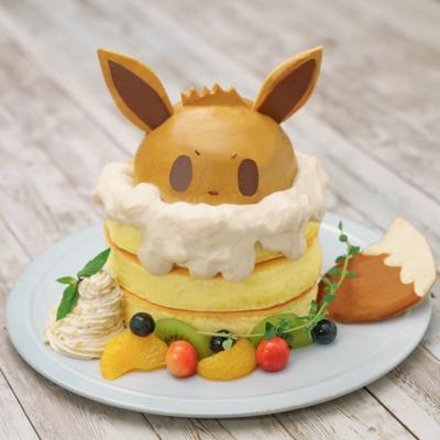 ホイップでもふもふ!イーブイパンケーキ
