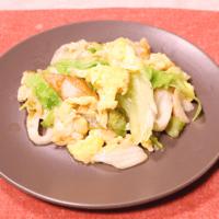 ふんわり卵とレタスの中華風炒め