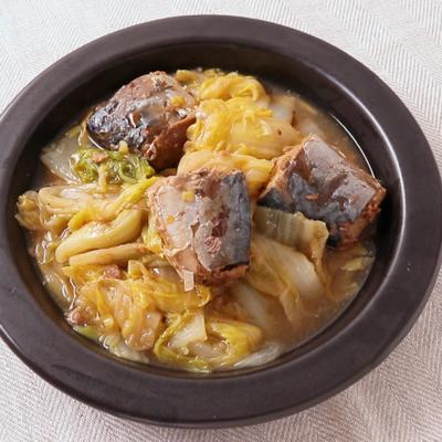 サバ缶で 白菜のとろっと煮
