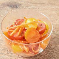 カラフルミニトマトとにんじんのさっぱりマリネ