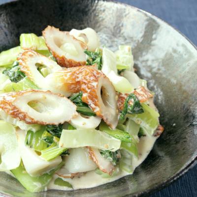 レンジで簡単 チンゲン菜とちくわのマヨサラダ