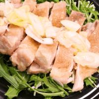 レンジで簡単!ねぎ塩生姜蒸し鶏