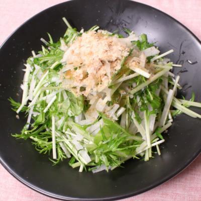 あっさりシンプル!水菜と大根のサラダ