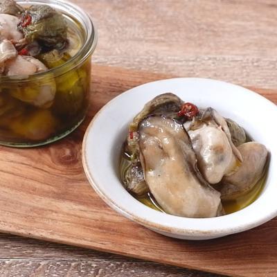 ふきのとうと牡蠣のオイル漬け