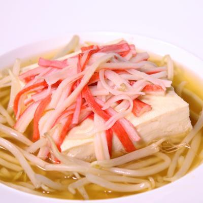 レンジで簡単!豆腐あんかけスープ