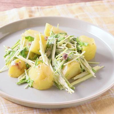 じゃがいもと水菜のアンチョビサラダ